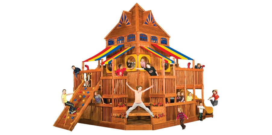 Clubhouse Swing Rainbow Clubhouse Swing Set