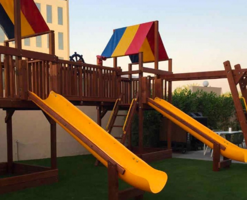 hotel slide swing play installation Dubai
