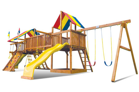 Double Whammy A3 48C swingset front view